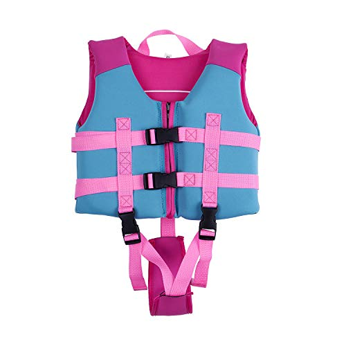 Children Float Vest, Kids Swimming Training Jacket Learn to Swim for Boys Girls (Pink for Girls, Tag L/Suggest 5-7 ()