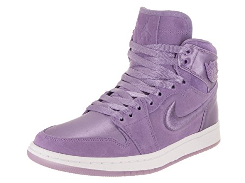 Jordan Nike Women's Air 1 Retro High SOH Purple Earth/White Casual Shoe 8 Women US by Jordan