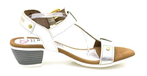 Sandalo ss01 Estate In 185 Innocente Con Branco Morbida Scarpe Pelle 8UfnaUqwI