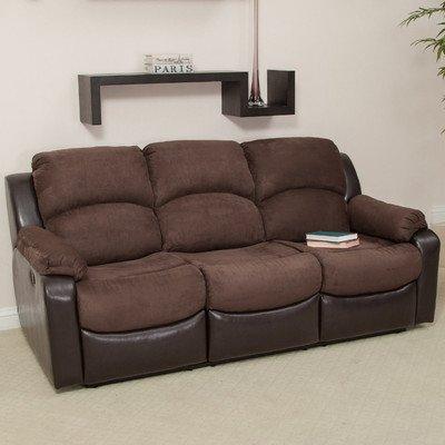 Faux Leather Microfiber Sofa (Best Selling Graham Dual Motion Sofa)