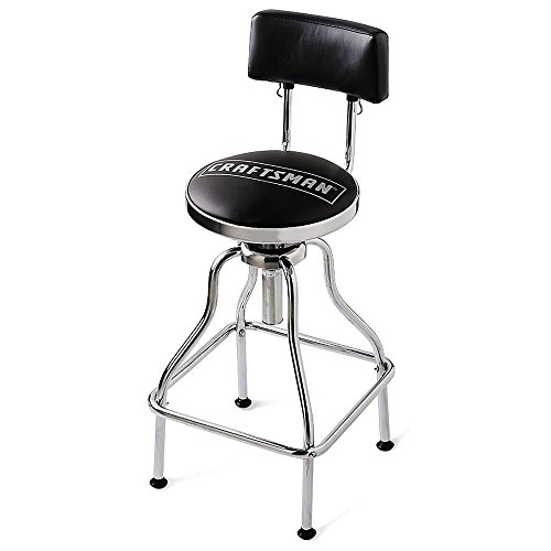 New Craftsman Tools Adjustable Hydraulic Stool Chair Garage Work Shop Chrome Dad