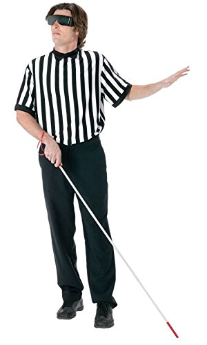 Blind Referee Costumes (Blind Referee EZ Guy Costume Costume - Standard - Chest Size 33-45)