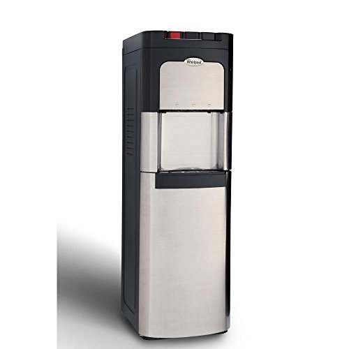 Whirlpool Bottom Loading Commercial Water Cooler with Ice Chilled and Steaming Hot Water in Stainless - Water Lumina Pump