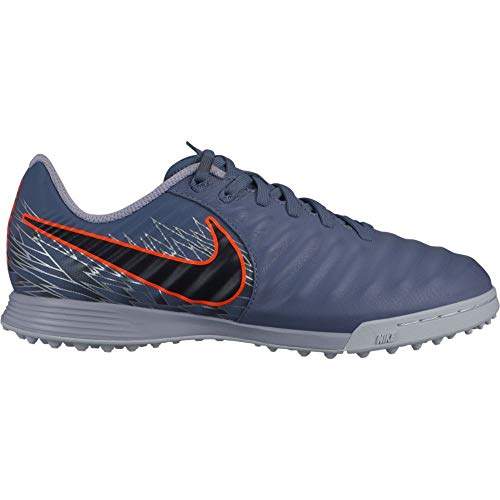 Nike Youth Tiempo LegendX Academy Turf Soccer Shoes (2.5 M US Little Kid, Armory Blue)