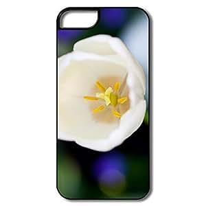 IPhone 5/5S Hard Plastic Cases, White Flower White/black Cases For IPhone 5/5S