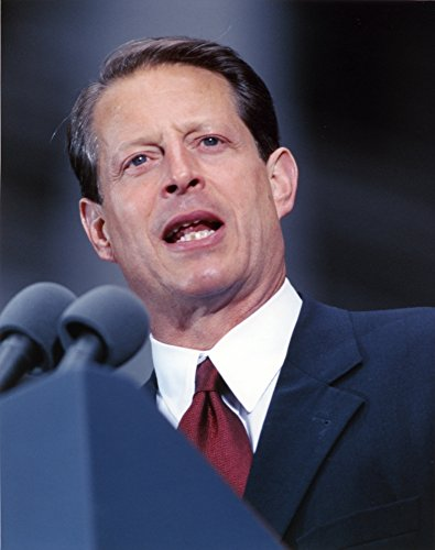 Al Gore Delivering a Speech wearing a Black Suit and A Red Tie Photo Print (8 x 10)