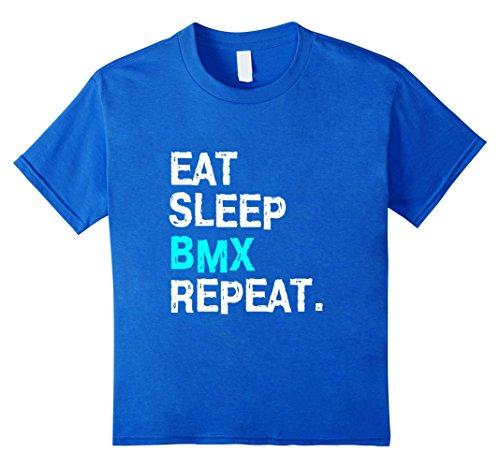 Kids Eat Sleep BMX Repeat T-Shirt Bike Racing for Women Men Race 8 Royal - Royal Race Jersey Racing