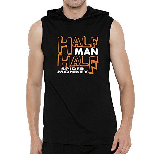 Teeburon HALF MAN , HALF Spider Monkey Hooded Sleeveless T-Shirt