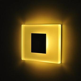 Juego de 4/sun-led luces de pared Focos LED para Escaleras, escalera, Pasillo, marco de