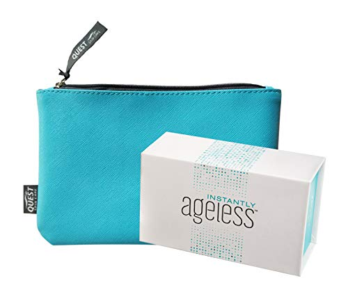 Jeunesse Instantly Ageless 25 Vials w/FREE Makeup Bag | Instantly Ageless 25 Vial Box Set with FREE FULL SIZE Quest Makeup Bag