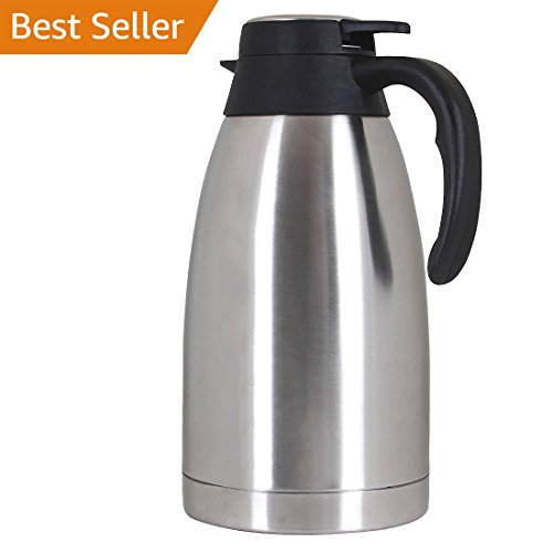 Thermal Carafe Stainless Steel Coffee Double Walled Vacuum Thermos-2L/68oz