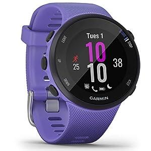 Garmin Forerunner 45S GPS Running Watch with Garmin Coach Training Plan Support, Bluish lilac (Iris), Small