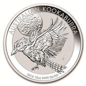 - 2018 AU Australian 10oz Kookaburra $10 Brilliant Uncirculated