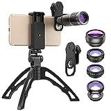WLIXZ Mobile Phone Lens, 16 Times Telephoto Fisheye Wide-Angle Macro Starlight Polarization, with Removable Phone Clip