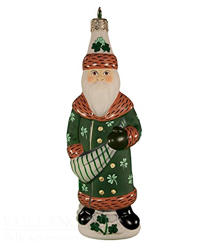 Vaillancourt Irish Santa Ornament for sale  Delivered anywhere in USA