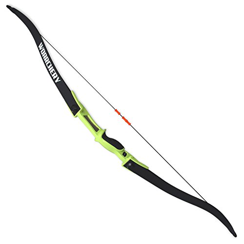 WOARCHERY Combat Archery Takedown Right-Left Handed 25LBS Recurve Bow (Green)