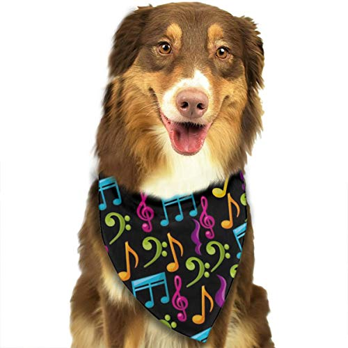 Pet Scarf Dog Bandana Bibs Triangle Head Scarfs Colorful Music Notes Accessories for Cats Baby Puppy