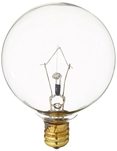 Westinghouse 0361200, 40 Watt, 130 Volt Clear Incand G16.5 Light Bulb, 2500 Hour 340 Lumen