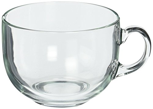 Jumbo Coffee Cup - Luminarc Jumbo Mug, 24.25 oz, Clear, Set of 4