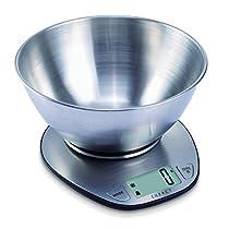 EXZACT - Prime Balance de Cuisine Électronique à Grand Écran avec Bol à Mélanger en Inox - 5 kg / 11lb