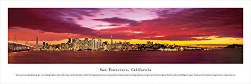 San Francisco, California at Sunset - Blakeway Panoramas Unframed Skyline - Mn In Sunset Times
