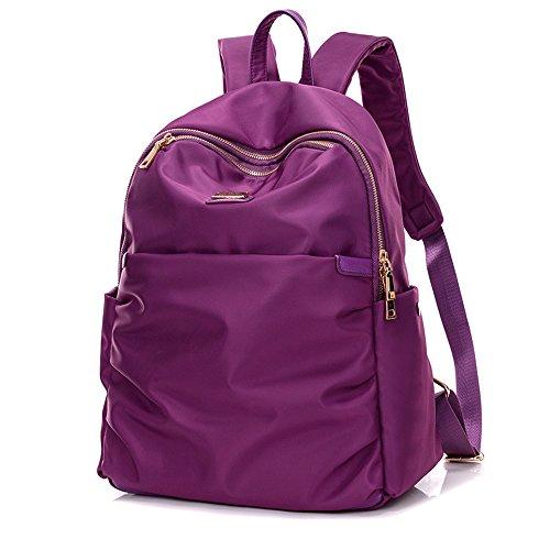 Meaeo Mochila De Viaje Nuevo Nylon Doble Bolso Dama Bolso De Moda De Gran Volumen,Violeta Violet
