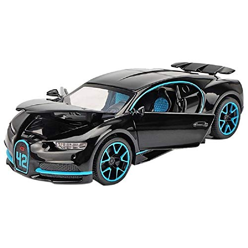 METRO TOY'S & GIFT 1:32 Scale Model Alloy Metal Bugatti Chiron Sports Car Model with Light and Sound Open Doors Pull Toy