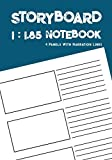 Storyboard Notebook: 1:1.85 - 4 Panels with
