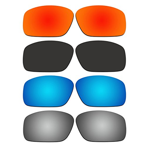4 Pair ACOMPATIBLE Replacement Polarized Lenses for Oakley Straightlink Sunglasses OO9331 Pack - Are Oakley All Polarized Lenses