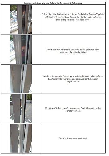 Universal Balkonturschnapper Schnapper Metall Mit Gegenstuck Amazon