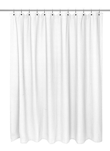 Waffle Weave 100 percent Cotton Shower Curtain, Size 72 inch