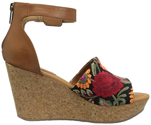 Reazione Kenneth Cole Womens Unica Quest Sandali Con Zeppa Floreale