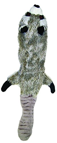 Ethical Pets Mini Skinneeez Raccoon 14-Inch Stuffingless durable squeaker Dog and Cat Toy.