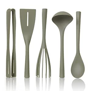 Pantone Universe Nylon Kitchen Tool Set, 5-Piece, Tea