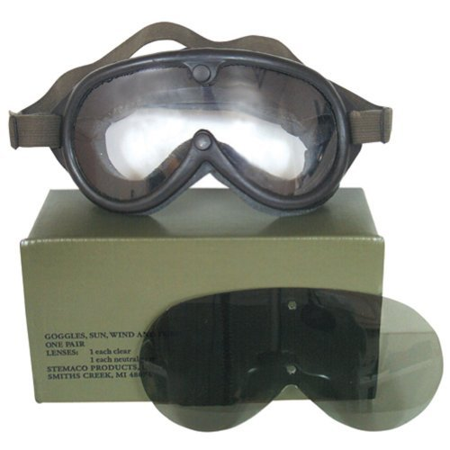 Sun, Dust & Wind Goggles US Military Type by U.S. Military by U.S. Military
