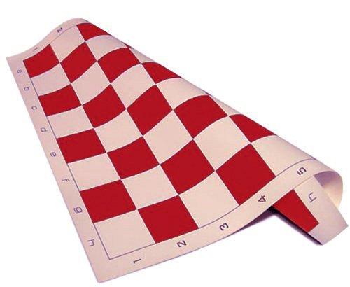 Standard Roll-up Vinilo Torneo de Ajedrez Mat, 50,8x 50,8cm, Rojo