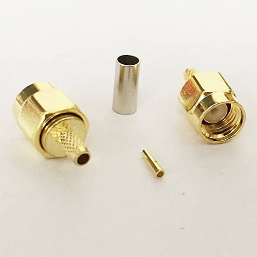 10pcs BNC female Jack connector for crimp RG316,RG174 cable RF Coaxial Connector