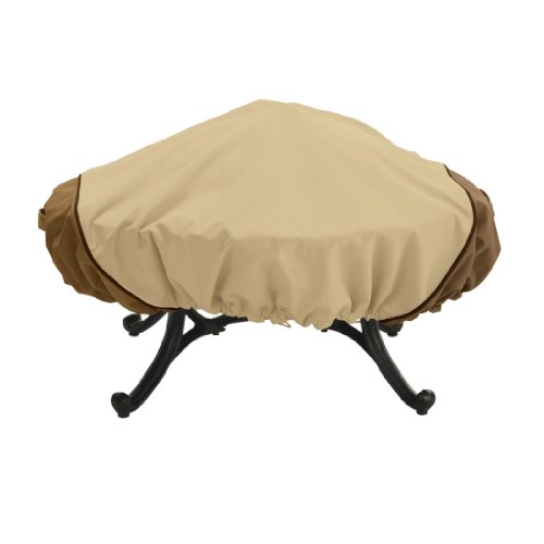 Classic Accessories 72942 Veranda Round Fire Pit Cover, Large, Pebble