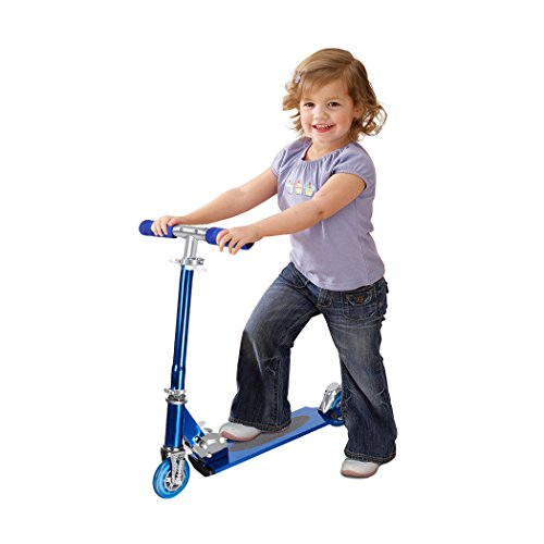 Funmily foldable Height Adjustable HandleBar 2 Wheels Kick Scooter Kick board for Kids