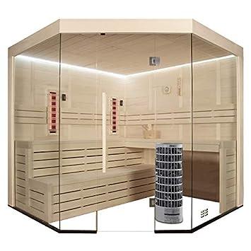 EO de Spa Sauna e1201 a de madera de álamo IR/236 x 236/9kw Vitra: Amazon.es: Bricolaje y herramientas