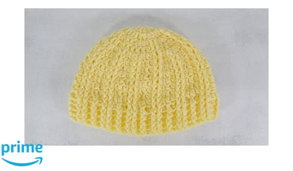 Amazon.com  Light yellow warm winter beanie hat skull cap boho  Handmade 83400999e637