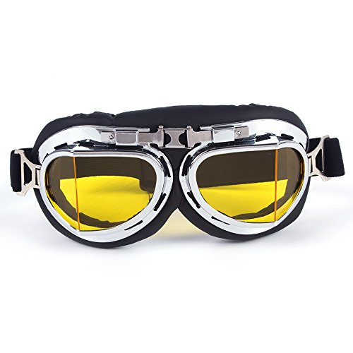 OMG_Shop Ski Snow Motorcycle ATV Off-Road Goggle Eyewear Black Frame Clear - Between Sunglasses Aviator And Difference Pilot