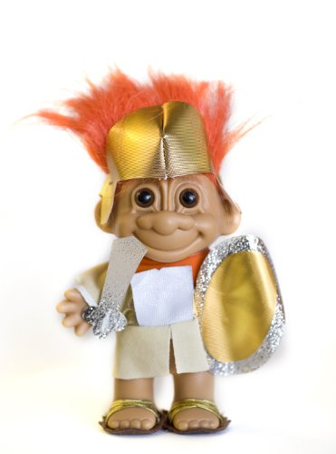 (My Lucky Troll SPARTICUS Troll Doll (Orange Hair) by Russ Berrie)