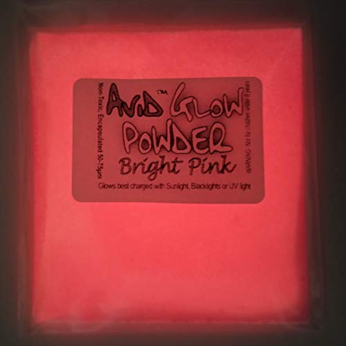 Glow Powder; Fluorescent Pink in Daylight and Red Orange Glow in Dark; 1oz (30g); Glow in The Dark Pigment Powder for Resin, Slime, Nail Polish, Paints, Coatings, Acrylic Powder
