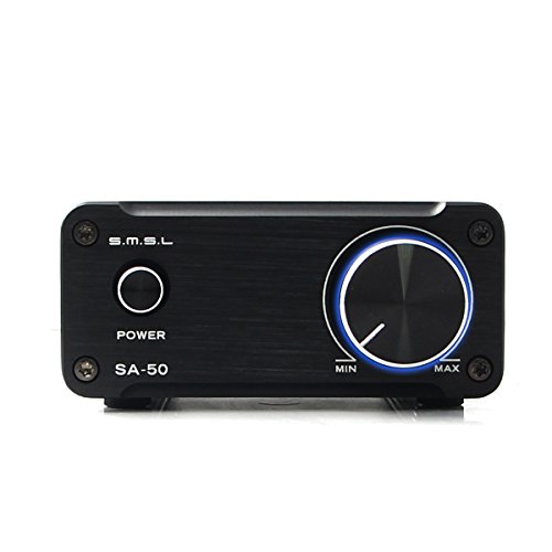 SMSL SA50 50Wx2 TDA7492 Class D Amplifier + Power Adapter (Black)