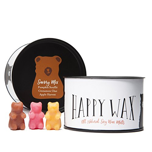 Happy Wax Savory Mix, Scented Soy Wax Melts - Bear Shapes Perfect for Mixing Melts in Your Warmer!