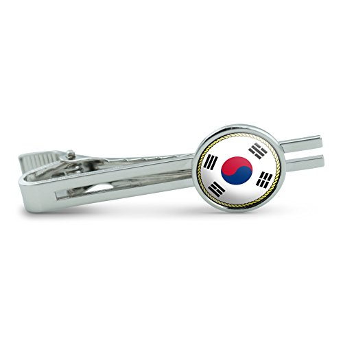 Flag of South Korea Men's Tie Clip Tack Bar