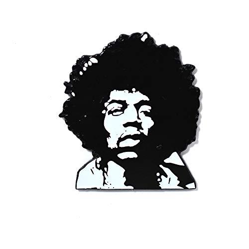 Jimi Hendrix Pin Black and White Classic Jimi Hendrix Experience Pendant Lapel Hat Pin