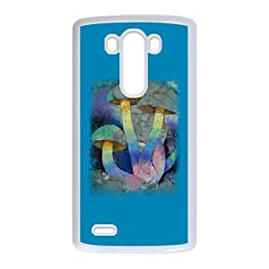LG G3 Cell Phone Case White MAGIC MUSHROOMS EZF Designer Cell Phone Covers