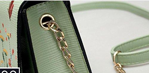Span Oblicuo Bolsa Moda Nuevo Estilo Femenino Personalidad Cuadrada Meaeo Negro Verde Hombro Bolsa Nuevo Tendencia Verano De Solo SZ4U6x6